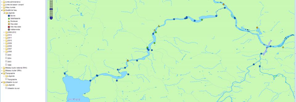 Cartographie interactive au COGESAF